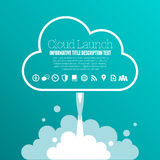 Cloud Launch Copyspace Royalty Free Stock Images