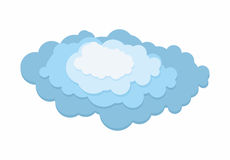 Cloud layer. 3D Blue cloud on a white background. Vector illustration Stock Images