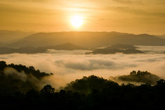 Cloud layer mountain view Stock Images