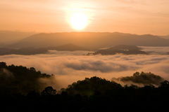 Cloud layer mountain view Royalty Free Stock Images