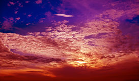 Cloud layer and sky in sunset Stock Image