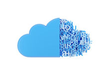 Cloud with letters Stock Image