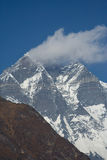 Cloud on Lhotse. Cloud covering the summit of Lhotse Stock Photo