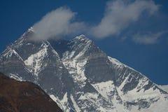 Cloud on Lhotse. Cloud covering the summit of Lhotse and Lhotse Shar royalty free stock photo