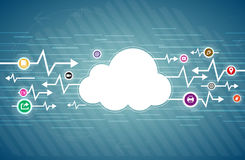Cloud Life. Vector illustration of web internet computing technology concept of cloud life Stock Images