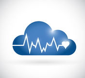 Cloud lifeline illustration design Royalty Free Stock Images