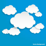 Cloud on light blue background. Stock Photo