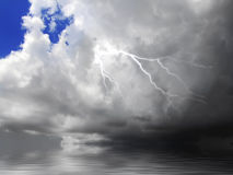 Cloud and Lightning Royalty Free Stock Photo