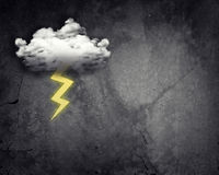 Cloud with lightning Royalty Free Stock Image