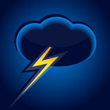 Cloud and lightning Royalty Free Stock Photography
