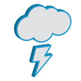 Cloud With Lightning Weather Forecast. Royalty Free Stock Images