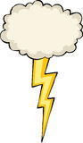 Cloud with lightning Royalty Free Stock Photos