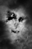 Cloud-like face of a man Royalty Free Stock Photo