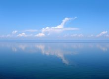 Cloud like plane, lake Baikal, Russia Stock Image