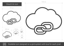 Cloud link line icon. Cloud link vector line icon isolated on white background. Cloud link line icon for infographic, website or app. Scalable icon designed on Royalty Free Stock Photo