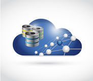 cloud link network and servers illustration Stock Image