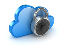 Cloud with lock Royalty Free Stock Photos
