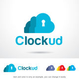 Cloud Lock Logo Template Design Vector. This design suitable for logo or icon Royalty Free Stock Image