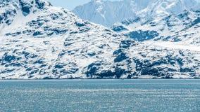 cloud lodowca bay gór nad ocean park narodowy Obraz Stock