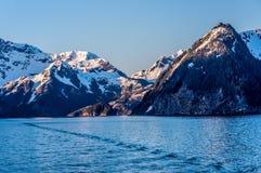 cloud lodowca bay gór nad ocean park narodowy Obraz Royalty Free