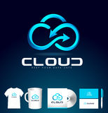 Cloud Logo Design. Cloud Icon Vector. Royalty Free Stock Image