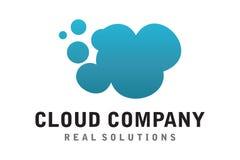Cloud logo. Logo design of cloud for company server Royalty Free Stock Image