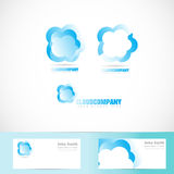 Cloud logo design set Stock Photo