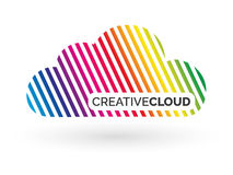 Cloud logo design. Vector illustration. Colorful cloud logo design. Included 4 color, gray scale, black and white versions Vector Illustration