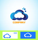 Cloud logo icon computing technology concept Stock Photography