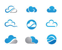 Cloud Logo Template stock illustration