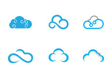 Cloud Logo Template royalty free illustration