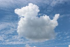 Cloud looks like a duck royalty free stock photo