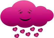 Cloud in love. Vector illustration of cloud in love isolated Royalty Free Stock Images