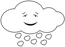 Cloud in love. Vector illustration of cloud in love, isolated Stock Images