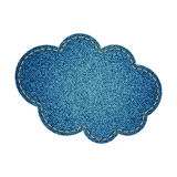 Cloud made of blue jeans Stock Photo