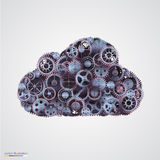 Cloud made of cogwheels Royalty Free Stock Photos