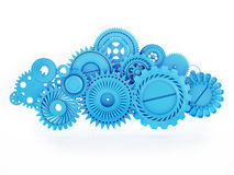 Cloud made of Gears, Mobile Cloud Computing Stock Photo