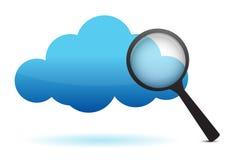 Cloud and magnifier Stock Photos