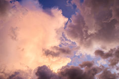 Cloud majestic colorful on sky Stock Photography