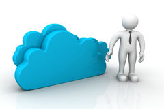 Cloud  with man Stock Images