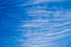 Cloud  many layer vertical on blue sky baclground Stock Photography