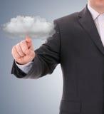 cloud meddelande resurser för begreppet för datoren beräknande lokaliserade bärbar dator Royaltyfria Bilder