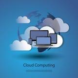 cloud meddelande resurser för begreppet för datoren beräknande lokaliserade bärbar dator Royaltyfria Foton