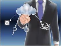 cloud meddelande resurser för begreppet för datoren beräknande lokaliserade bärbar dator Royaltyfri Bild