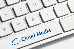 Cloud Media button Royalty Free Stock Image
