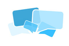 Cloud of message icons isolated on a background - Internet conce Royalty Free Stock Photography