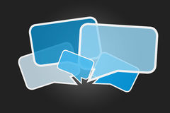 Cloud of message icons isolated on a background - Internet conce Royalty Free Stock Image