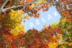Cloud message of relax Stock Photos
