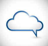 Cloud message speech bubbles illustration Royalty Free Stock Image