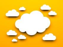 Cloud metaphor Stock Image